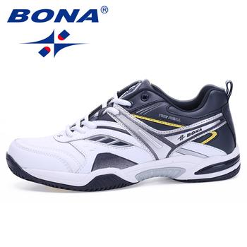 BONA nowy styl klasyczny męskie buty do tenisa zasznurować mężczyźni sportowe buty najwyższej jakości wygodne męskie tenisówki buty szybka darmowa wysyłka tanie i dobre opinie CN (pochodzenie) oddychająca w stylu butów do tenisa Średnia (B M) Cotton Fabric RUBBER Sznurowane Spring2017 Dobrze pasuje do rozmiaru wybierz swój normalny rozmiar