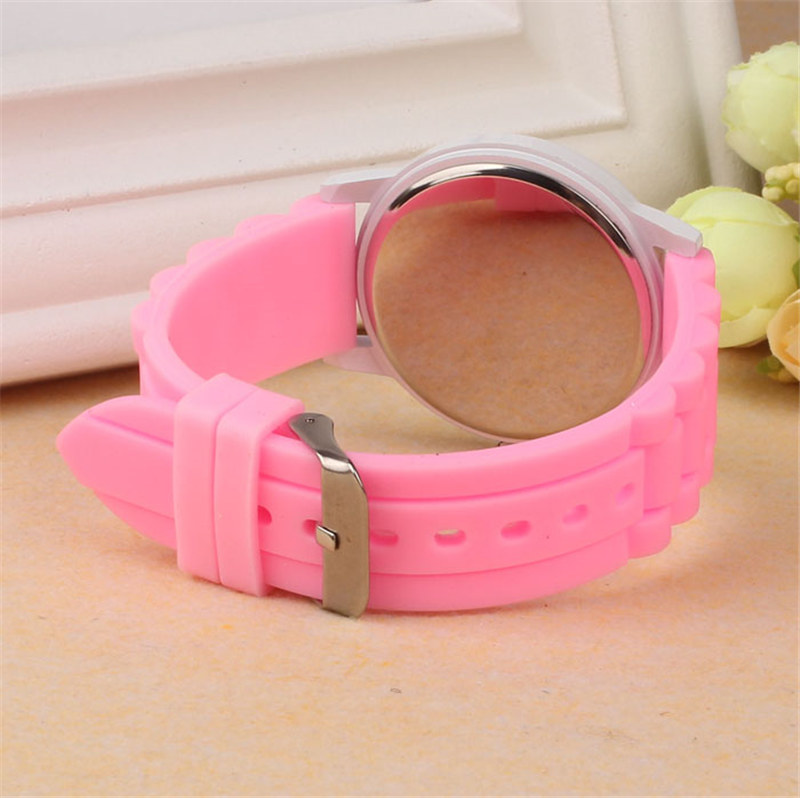 Luxury Women Watch Silicone Rubber Unisex Quartz Analog Sports Women Fashion Wrist Hot Pink For Lovely Girls #4m14 (12)