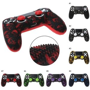 Image 1 - 7 Colors Anti Slip Silicone Protective Skin Case For PlayStation 4 PS4 DS4 Pro Slim Controller Thumb Stick Grip Caps