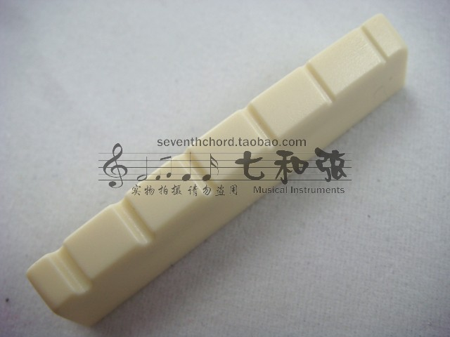 Ivory white plastics 43*6*8.75-8MM left hand folk guitar upper violin nut/front violin bridge/upper string nut/string bridge