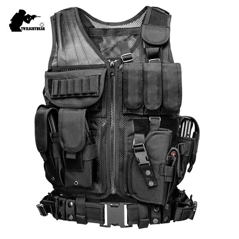 Military Tactical Vest 600D Nylon MELLO Multi function Mesh Combat Vest CS Paintball Protective Vest Police Equipment BE045