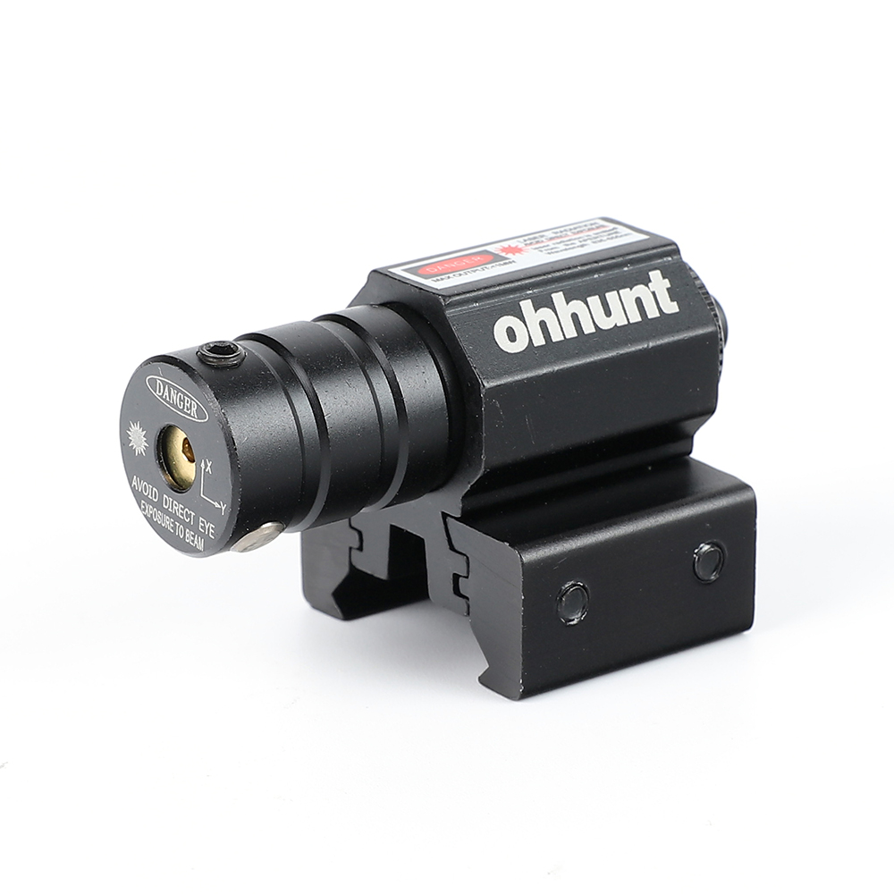Tactical Ohhunt Red Dot Mini Red Laser Sight Scope 11mm/20mm Picatinny Rail Mount with Remote Pressure Switch For Air Gun Rifle