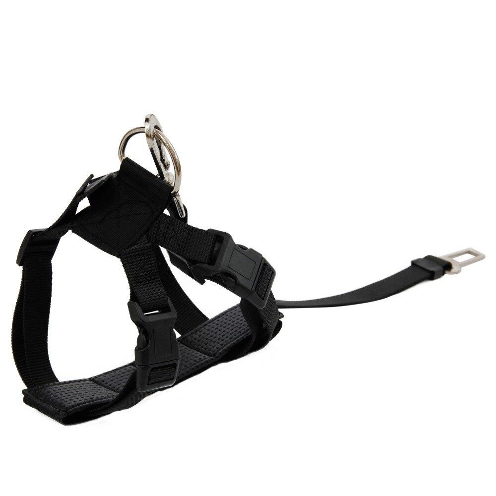 Dog Car Safety Belt/ Harness Sets Durable Pet Dog Cat Training Adjustable Pet Leash Restraint Leads Puppy Dog Safety Set S/L