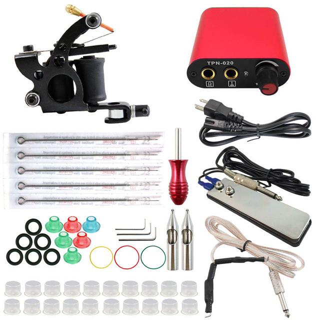 ITATOO Permant Maquillaje Máquina Para El Kit Completo Kit de Tatuaje Tatuagem Microblading Suministro de Kits de Mejor Precio de La Máquina Del Tatuaje Equipo