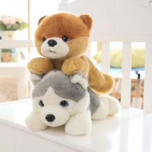 2016 Papa dog doll, adorable Shiba Inu pet plush toy doll simulation pug puppy toy dolls, children's birthday gift