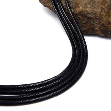Black Leather Necklace Elegant Fashion Long Rope Necklace for Men and Women