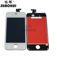 100 Brand New Lcd Display A Quanlity Touch Digitizer With Frame Assembly For IPhone 4S 4GS