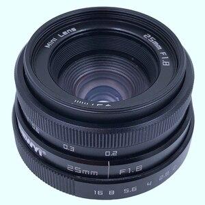 Image 1 - Newyi Mini 25Mm F1.8 aps c televizyon Tv Lens/Cctv Lens 16Mm C montaj kamera
