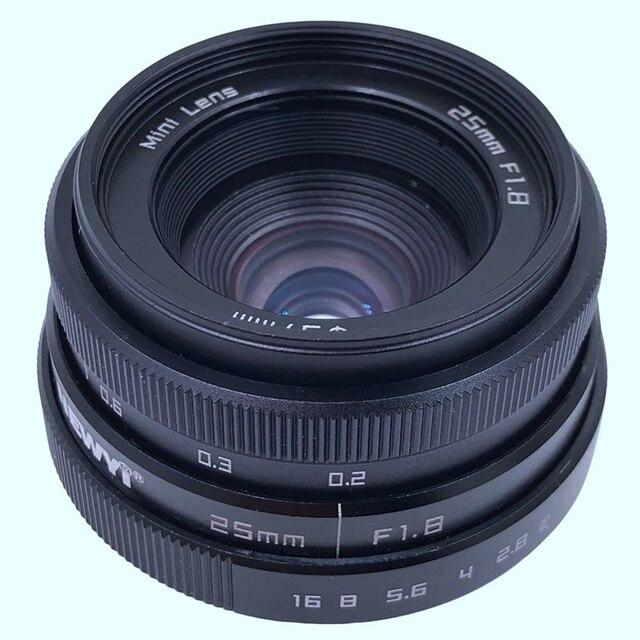 Newyi Mini 25Mm F1.8 aps c televizyon Tv Lens/Cctv Lens 16Mm C montaj kamera