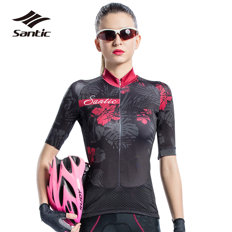 Santic Cycling Jersey Women Short Sleeve Pro Team Summer Bike Jerseys Quick Dry Bicycle Jersey Shirt Maillot Ciclismo 2019Santic Cycling Jersey Women Short Sleeve Pro Team Summer Bike Jerseys Quick Dry Bicycle Jersey Shirt Maillot Ciclismo 2019