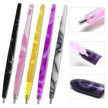 """1 шт., магнитная ручка для дизайна ногтей """"кошачий глаз"""", акриловая, сделай сам, волшебная 3D Ручка для рисования, точечная ручка, лак, УФ-гель, маникюрный салонный инструмент JIA01"""