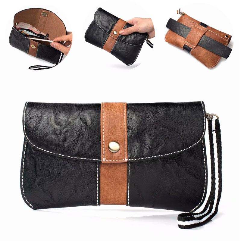Multifunction Waist Belt Clip Double Bag Case for Xiaomi Redmi 6x 2S 5 Plus Capa Universal Wallet Phone Cover for Samsung Huawei