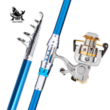 Big sale Handing Blade pesca Sea Fishing Rod Combo High carbon casting rod Telescopic Fishing Rod spinning rod with baitcasting reel