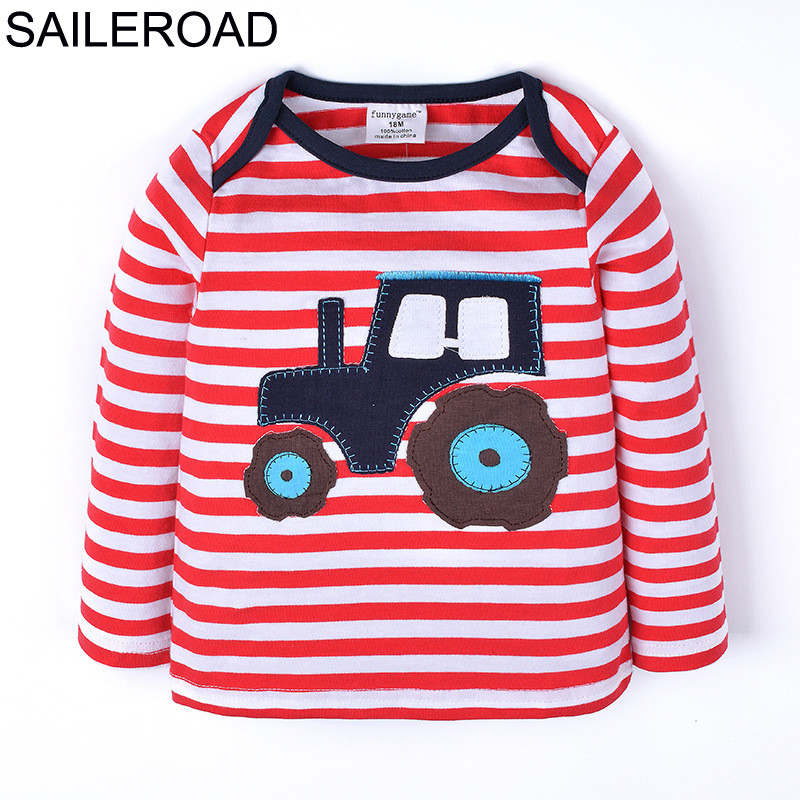 HTB1nKHwnRUSMeJjy1zjq6A0dXXaY - SAILEROAD Cartoon Vehicle Harvester Children Kids Boy's T Shirts New Spring Autumn Baby Infant Girl's Tops Tees Clothing 1-6Year