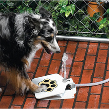 Pet Pedal Water Drinking Trouble-Free Outdoor Dog Cat Pet Drinking Doggies Foot Pedal Operated Water Fountain Drinking busy doggies