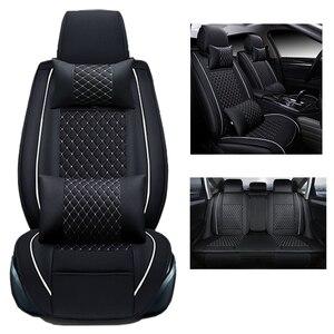 Image 5 - (ด้านหน้า + ด้านหลัง) รถชุด Universal สำหรับ HONDA CRV Civic Accord Fit Honda Insight PU หนังอุปกรณ์อัตโนมัติ