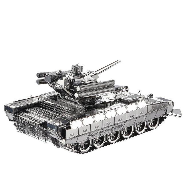 Piececool Metal 3D Rompecabezas De Montaje Modelo de Camión Tanque de Guerra Militar Rompecabezas de Construcción de Muebles Para El Hogar regalos Creativos DIY Niños JUGUETES
