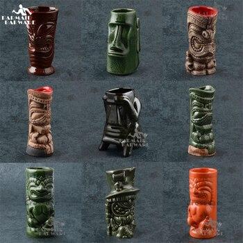 350 мл-700 мл керамическая кружка Tiki креативная фарфоровая пивная кружка для вина