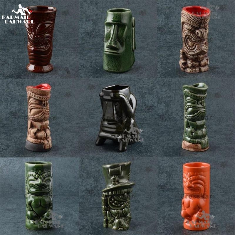 350ml-700ml 23 Styles Hawaii Tiki Mugs Cocktail Cup Beer Beverage Mug Wine Mug Ceramic Ku.Ku.Kauioo Mug