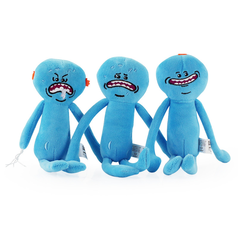 1pcs 25cm Rick And Morty Happy Sad Foamy Meeseeks Plush Toy Dolls Soft Stuffed Toys For Kids Children Christmas Gift