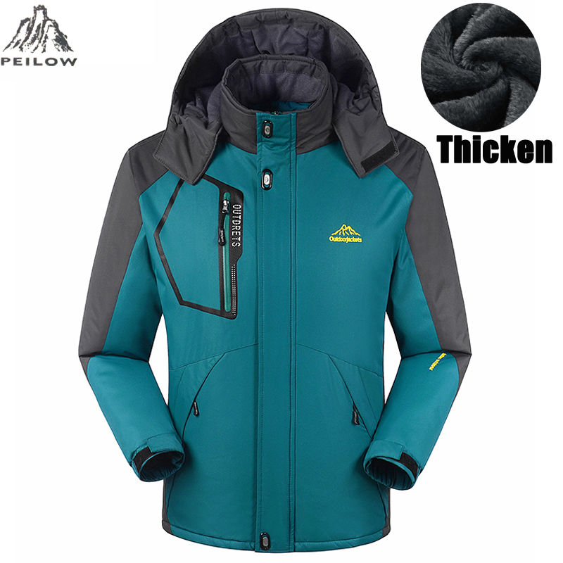 Winter jacket men women thick jacket coat for men Velvet Windproof male