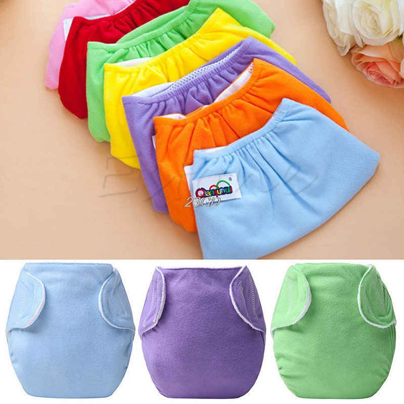 2017 Cute Baby Newborn Diapers Cover Adjustable Reusable Washable Nappies Cloth Wrap APR14 30