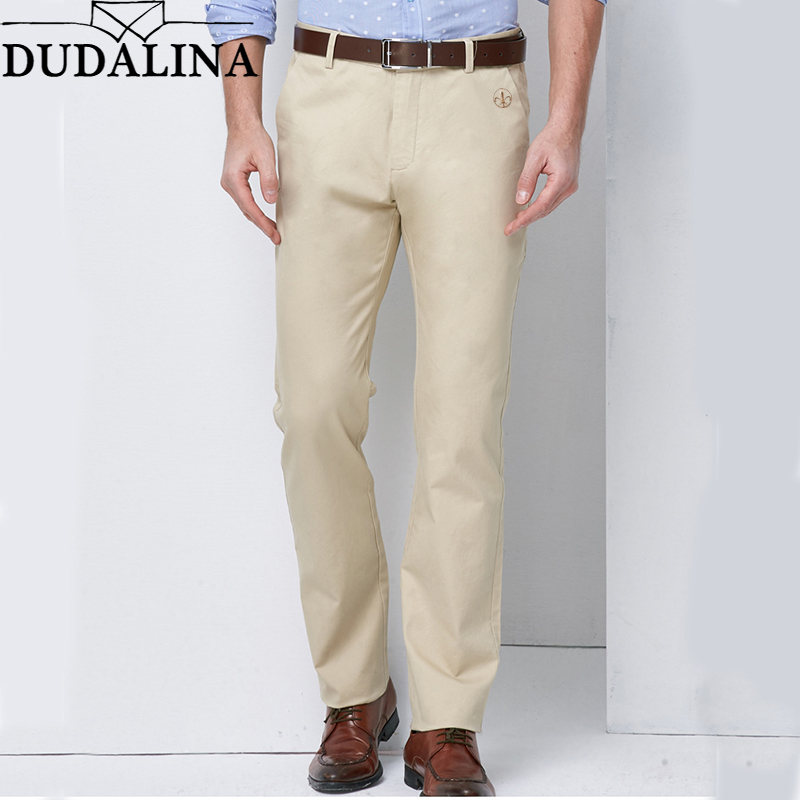 Dudalina Brand Spring Winter New Fashion 2020 Slim Straight Men Casual Pants 100% Pure Cotton Man Trousers Plus Size