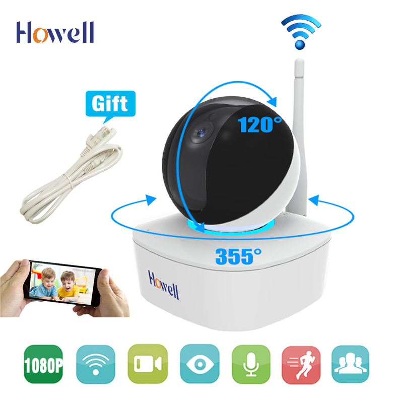 Wireless HD 1080P Wifi IP Camera for Home Baby Monitor Surveillance Camera with Night Vision Pan/Tilt Two-Way Audio SD Card Slot ptz pan tilt wifi wireless baby monitor hd 720p ip camera p2p onvif with two way audio micro sd card slot home security camera