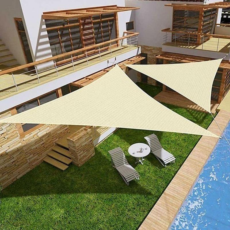 Waterproof Sun Shelter Triangle Sunshade Protection Outdoor Canopy Garden Patio Pool Shade Sail Awning Camping Shade Cloth LargeWaterproof Sun Shelter Triangle Sunshade Protection Outdoor Canopy Garden Patio Pool Shade Sail Awning Camping Shade Cloth Large