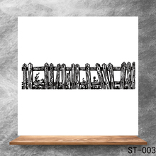 wood fence Transparent Clear Stamps DIY Scrapbooking Album Card Making DIY Decoration Making Embossing Stencil happy birthday words clear transparent stamps diy crafts card album making stencil decor scrapbooking embossing new stamps 2019