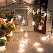 Holiday Lighting 3M 20LED Snowflake Home Xmas Decoration Christmas Lights Outdoor Waterproof Fairy Curtain String Lamp