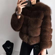 女性暖かいリアルフォックスファーコートショート冬の本物の毛皮ジャケットアウターオーバーコート自然キツネの毛皮のコート女の子 furclub Tatyana