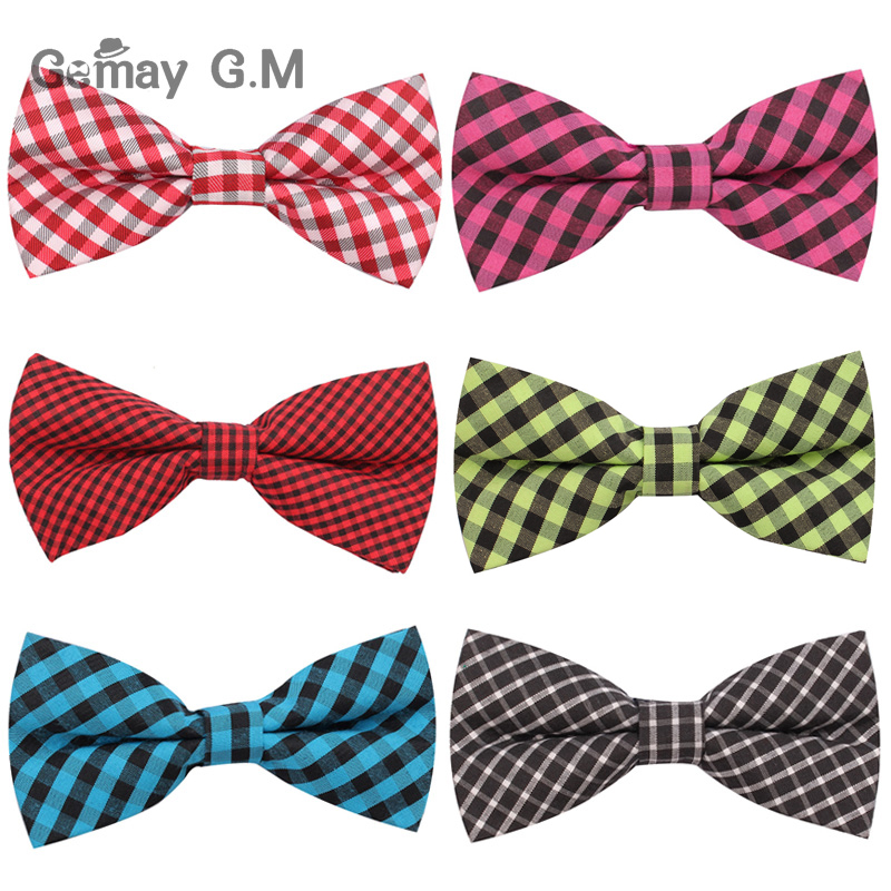 NEW Men Classic plaid Bow ties Fashion Neckwear Adjustable Mens Tuxedo Bow Tie Polyester for wedding Male neck ties