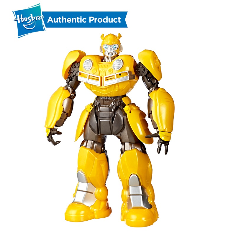 Hasbro Transformers Bumblebee Movie Toys DJ Bumblebee Singing and Dancing Autobot Officers Toy Car For Kids Collection Model