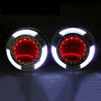 2pcs 3.0 inch led day running led angel eyes day running bixenon Projector lens shrouds white color hid xenon kit headlight DIY