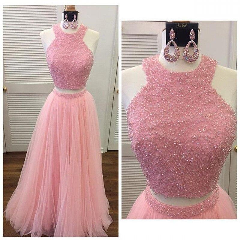 Baratos nuevo diseño De dos piezas De baile vestidos rebordeando una ...