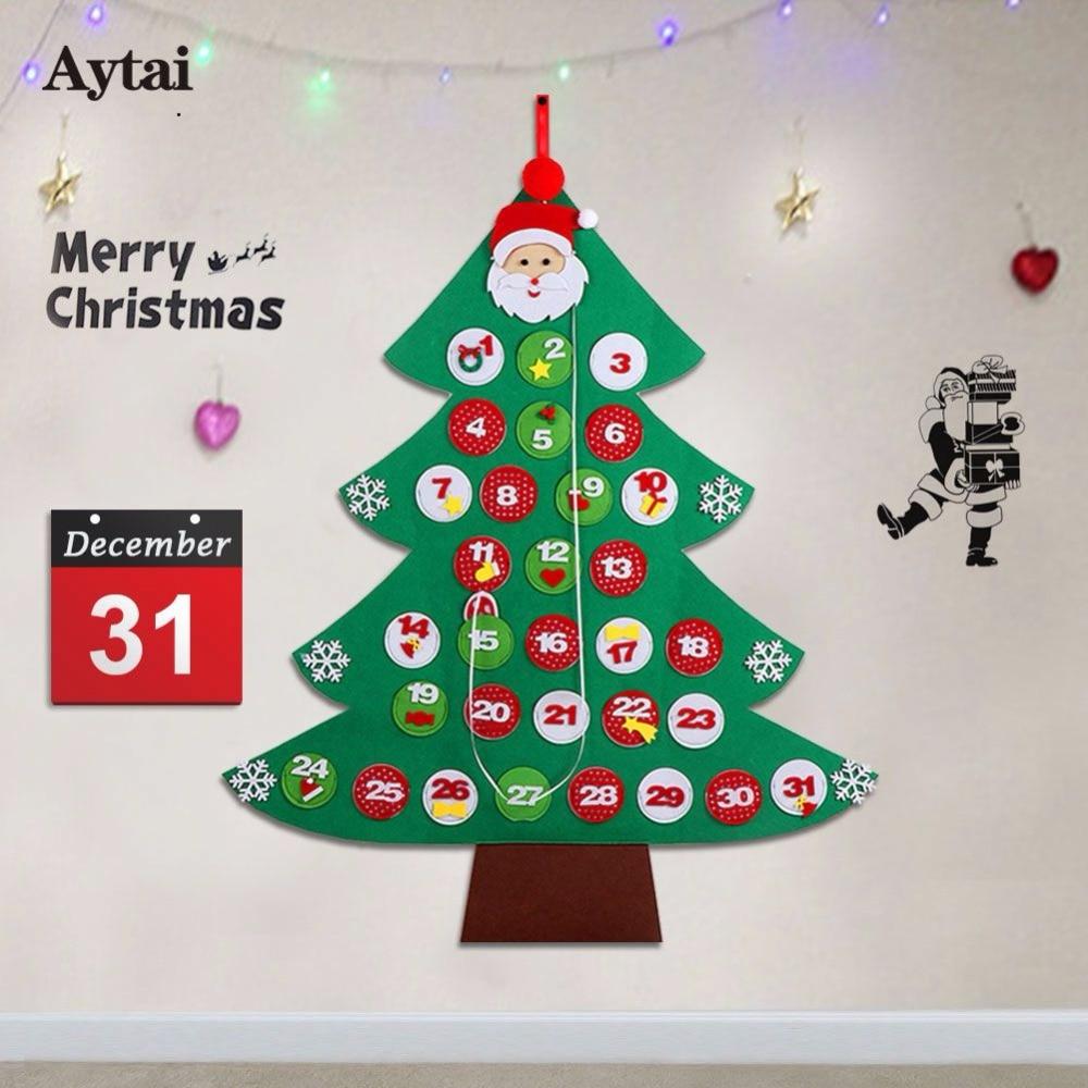 Felt Christmas Tree Advent Calendar: Aytai Felt Christmas Tree Advent Calendar 95cm*80cm Home
