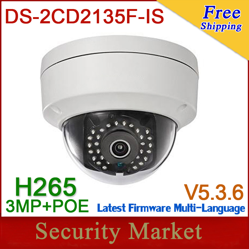 HIK DS 2CD2135F IS 4mm H 265 Multilanguage Waterproof 3MP IP66 Replace DS 2CD2132F I DS