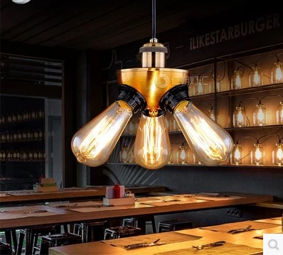 Edison Loft Industrial Pendant Lamp Fxitures With 3 Lights Dinning Room Hanglamp Lighting Lamparas De Techo Vintage 60w edison vintage pendant lights with metal lampshade retro loft industrial lamp lamparas pendente de techo hanglamp