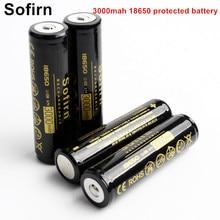Sofirn аккумуляторная батарея 18650 литий-ионная батарея 3,7 в 3000 мАч 18650 ячеек перезаряжаемые батареи с защищенной печатной платой