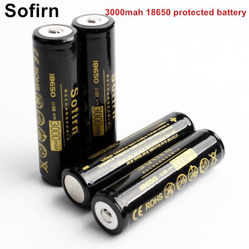 Sofirn 充電式 18650 バッテリーリチウムイオン電池 3.7 ボルト 3000 mah 18650 充電式電池保護された Pcb ボード