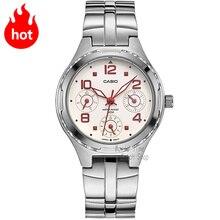 CASIO Часы Мода Повседневная Кварцевые водонепроницаемые женские часы LTP-2064A-4A LTP-2064A-7A2 LTP-2064A-7A3 LTP-2069D-1A LTP-2069D-2A