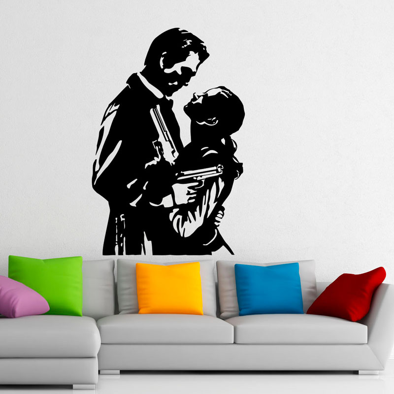 DCTOP Famous Movie Pattern Wall Decals Lovers Design Art
