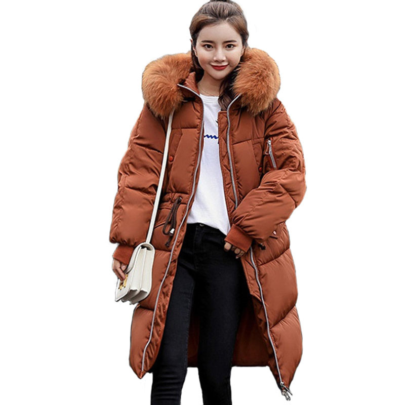 d3c41738bf703 Winter Parkas Womens 2018 New Cotton jacket Student Hoodies Top Plus size  Thick Warm Female Long Down cotton Coats Hot sale 1970-in Parkas from  Women s ...