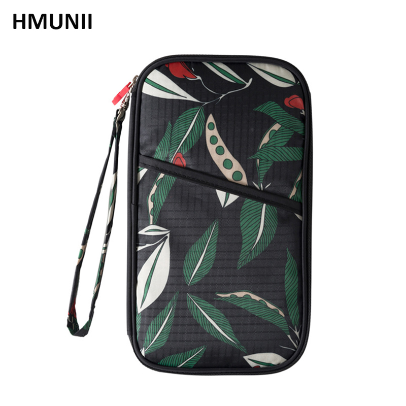 HMUNII New printing series travel passport bag multi-function carrying bag Simple style package travel documents little helper