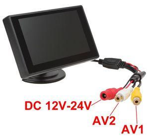 Image 5 - XYCING 4.3 بوصة لون TFT LCD سيارة الرؤية الخلفية رصد سيارة احتياطية شاشة للمساعدة في ركن السيارة بسهولة ل كاميرا الرؤية الخلفية DVD VCD