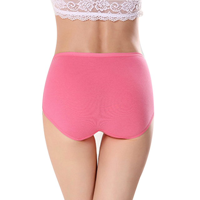 Women's briefs Comfortable and cool bamboo fiber panties pure color classic high waist underwear girl Fashion underpants