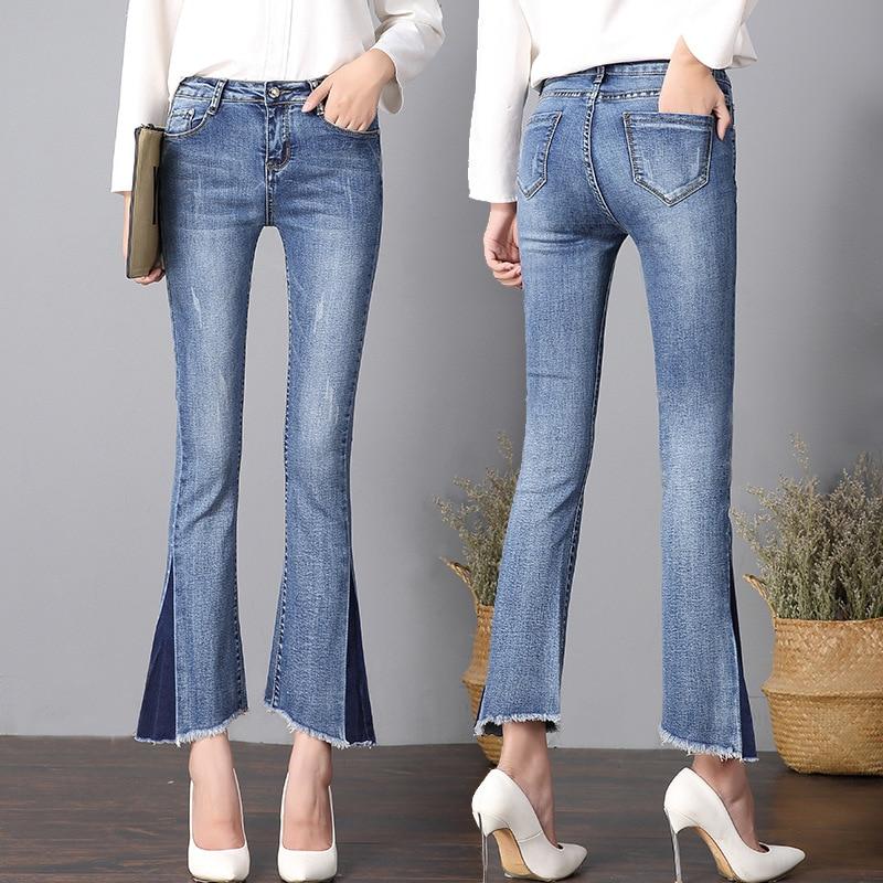 DN тонкие эластичные узкие брюки подходят леди джинсы плюс размер полная длина Тощий Узкие брюки, штаны джинсы 1R025-048