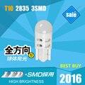 T10 LED Automotivo Luzes Instrumento Luz Dome Luz Porta Carros de Altíssima Qualidade LEVOU T10 Lâmpadas Mais Brilhantes 6000 K DC 12 tensão