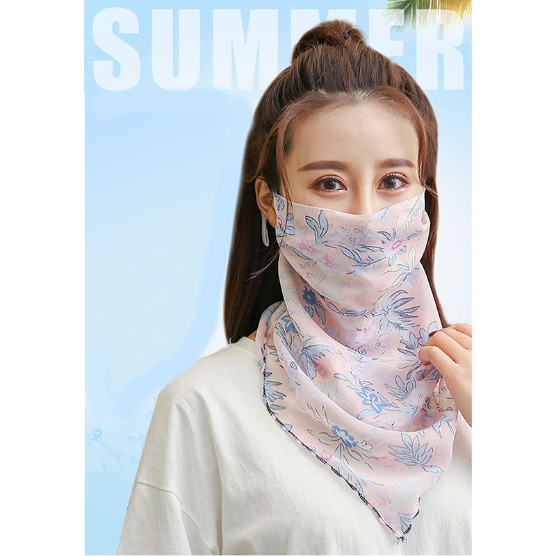Outdoor Half Face Mask Double Sided Windproof Dust-proof Sunshade Neck Cover Protector Masks Scarf Shawl